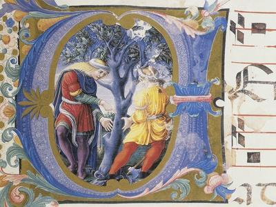 The Parable of the Barren Fig Tree, Letter Miniature, from Book of Religious Music