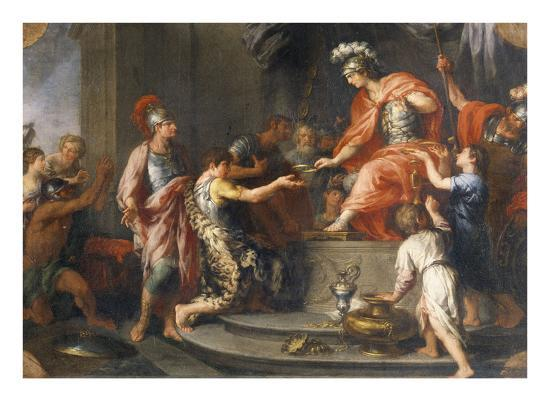 Liberality: Alexander the Great Rewarding His Captains-Francesco Fernandi-Giclee Print