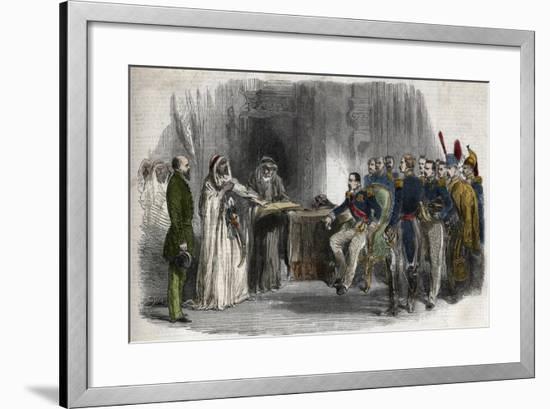 Liberation of Abd-El-Kader by Napoleon III-Stefano Bianchetti-Framed Giclee Print