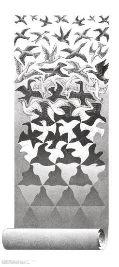 Liberation-M^ C^ Escher-Art Print