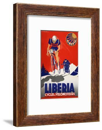 Bike Liberia Vintage Bicycle Poster Print Art Advertisement Cycling