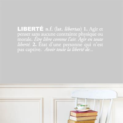 Libert?french) Wall Decal--Wall Decal