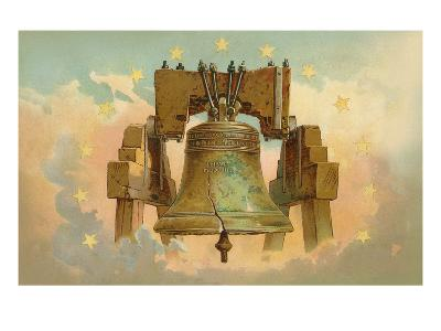 Liberty Bell in the Clouds--Art Print