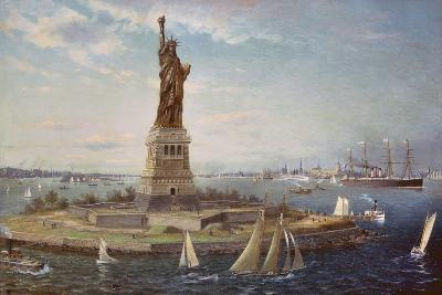 Liberty Island, New York Harbor, 1883-Fred Pansing-Giclee Print