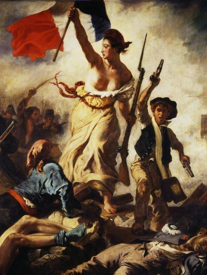 Liberty Leading the People, July 28, 1830, Detail-Eugene Delacroix-Giclee Print