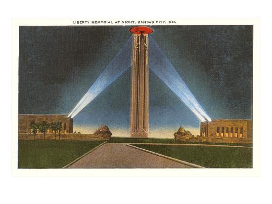 Liberty Memorial at Night, Kansas City, Missouri--Art Print