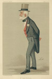 Mr James Weatherby, 17 May 1890, Vanity Fair Cartoon by Liborio Prosperi
