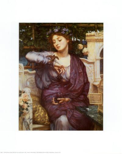 Libra and Her Sparrow, 1907-Edward John Poynter-Art Print