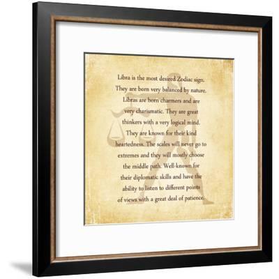 Libra Character Traits-Veruca Salt-Framed Art Print