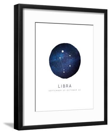 Libra Zodiac Constellation-Kindred Sol Collective-Framed Art Print