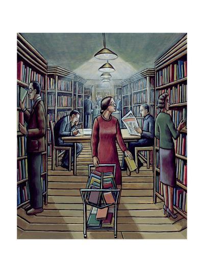 Library, 2003-P.J. Crook-Giclee Print