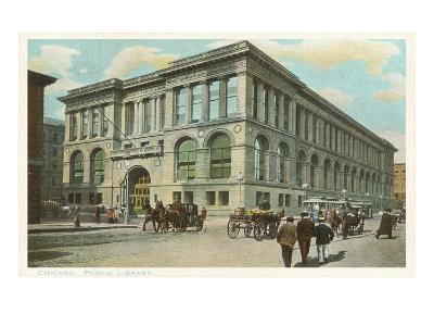 Library, Chicago, Illinois--Art Print