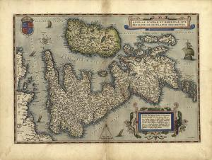16th Century Map of the British Isles by Library of Congress