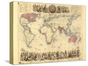 british empire world map 19th century by library of congress