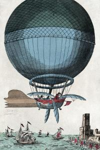 English Channel Balloon Crossing, 1785 by Library of Congress