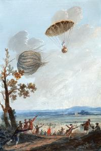 First Parachute Descent, 1797 by Library of Congress