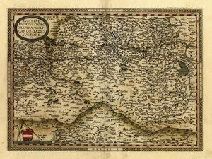 Ortelius's Map of Austria, 1570 by Library of Congress