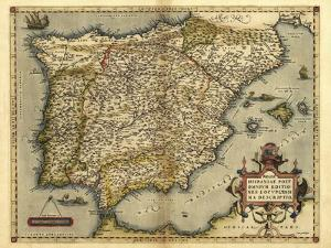 Ortelius's Map of Iberian Peninsula, 1570 by Library of Congress