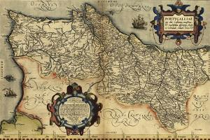 Ortelius's Map of Portugal, 1570 by Library of Congress