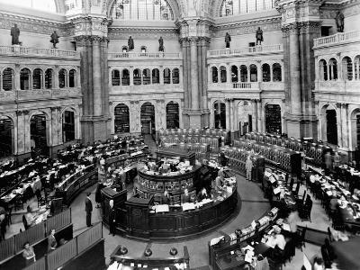 Library of Congress Reading Room--Photographic Print