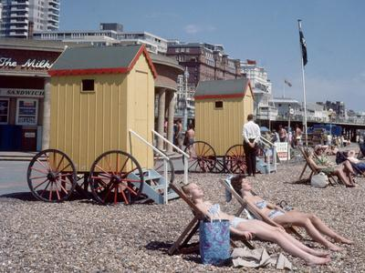 Old Style Bathing Suits in Brighton, 1968