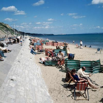 Sea Front and Beach at Bournemouth, 1971