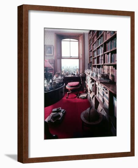 Library Study of Famed Naturalist Charles Darwin-Mark Kauffman-Framed Photographic Print