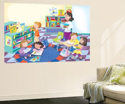 Library Time - Humpty Dumpty- Robin Boyer-Wall Mural