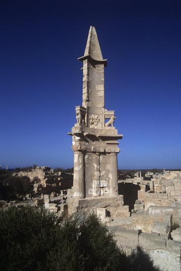 Libya, Sabratha, Historical Tripolitania, Punic Tomb--Giclee Print