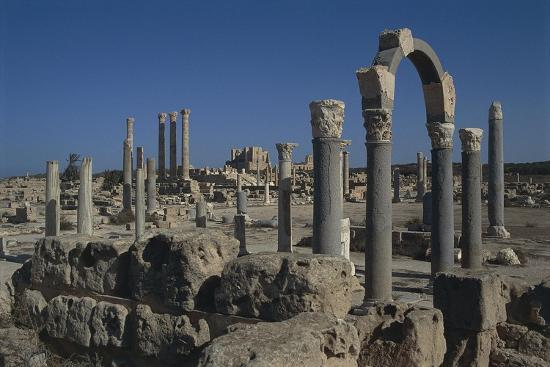 Libya, Tripolitania, Sabratha, Religious Curia Building--Giclee Print