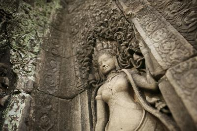 Lichens Grow on Ornate Stone Carvings and Bas Relief at Angkor Wat-Jim Ricardson-Photographic Print