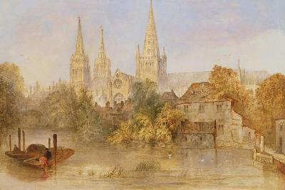 Lichfield Cathedral from Stowe Pool, C.1850--Giclee Print