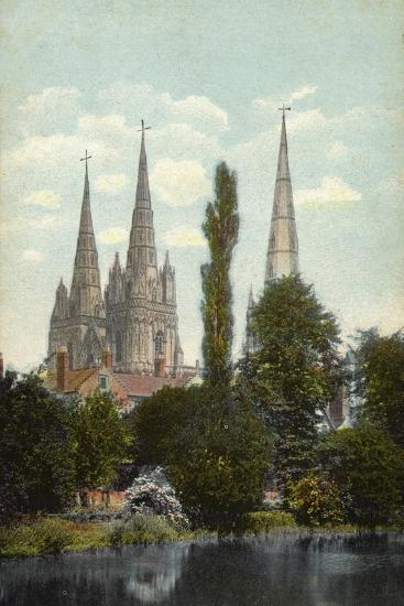 Lichfield, Cathedral--Photographic Print