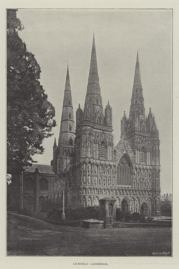 Lichfield Cathedral--Giclee Print