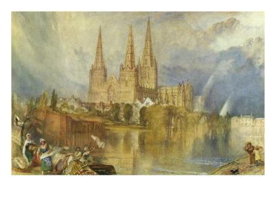 Lichfield, Staffordshire, c.1830-35-J^ M^ W^ Turner-Giclee Print