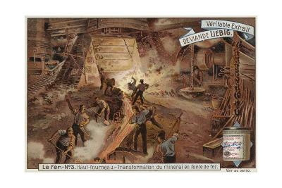 Liebig Card Featuring the Iron Industry--Giclee Print