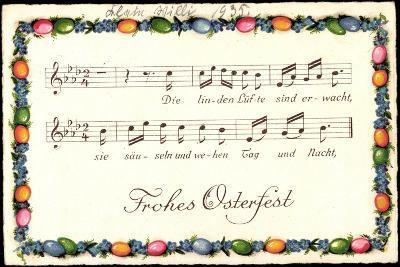 Lied Glückwunsch Ostern, Die Linden Lüfte Sind--Giclee Print