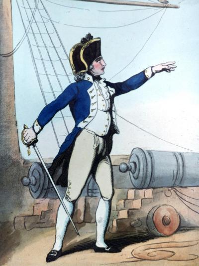 Lieutenant, 1799-Thomas Rowlandson-Giclee Print