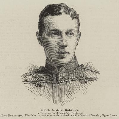 Lieutenant a A R Balfour--Giclee Print