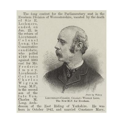 Lieutenant-Colonel Charles Wigram Long, the New Mp for Evesham--Giclee Print