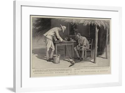 Lieutenant-Colonel Kitchener and His Pet at the Headquarters at Kassingar-Joseph Nash-Framed Giclee Print