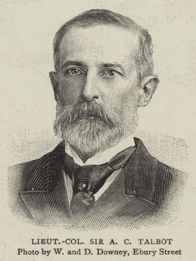 Lieutenant Colonel Sir a C Talbot--Giclee Print