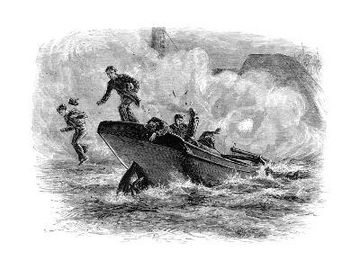 Lieutenant Cushing's Attack on the 'Albemarle, C1880--Giclee Print