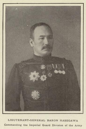 Lieutenant-General Baron Hasegawa, Commanding the Imperial Guard Division of the Army--Photographic Print