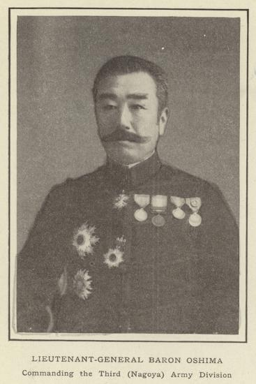 Lieutenant-General Baron Oshima, Commanding the Third--Photographic Print