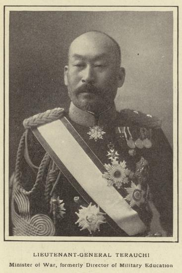 Lieutenant-General Terauchi, Minister of War, Formerly Director of Military Education--Photographic Print