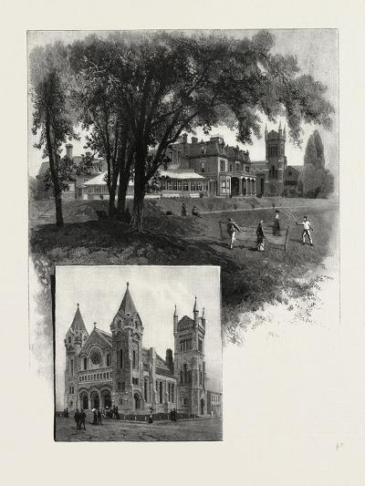 Lieutenant-Governor's Residence (Top); St. Andrew's Church (Bottom)--Giclee Print