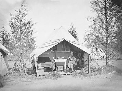Lieutenant James B. Neill Sitting Inside His Tent During the American Civil War-Stocktrek Images-Photographic Print