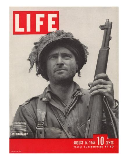 Lieutenant Kelso C. Horne of US Airborne Infantry, Part of Invasion at Normandy, August 14, 1944-Bob Landry-Photographic Print