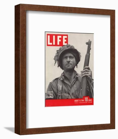 Lieutenant Kelso C. Horne of US Airborne Infantry, Part of Invasion at Normandy, August 14, 1944-Bob Landry-Framed Photographic Print